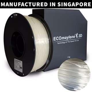 ECOmaylene 3D - PLA 3D Printer Filament | Anti-flash Transparent - 1KG