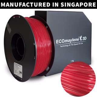 ECOmaylene 3D - PLA 3D Printer Filament | Ferrari Red - 1KG