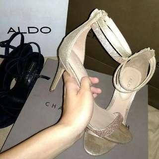 Preloved ALDO Rose gold high heels