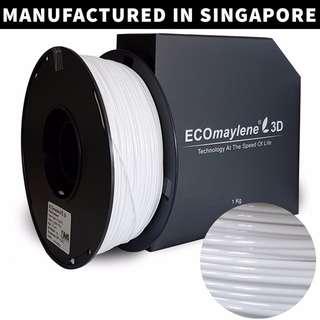 ECOmaylene 3D - PLA 3D Printer Filament | La Salle White - 1KG