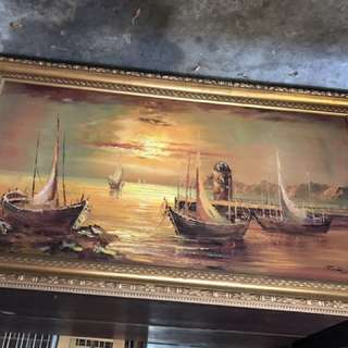 Antique Oil Painting REDUCED $200