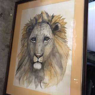 Lion Painting REDUCED $50