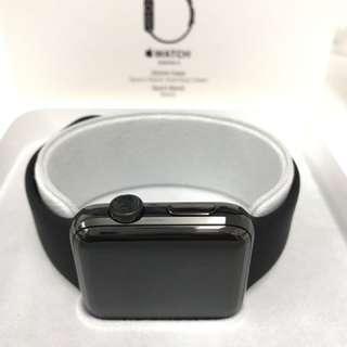 apple watch series2 42mm 不鏽鋼太空黑