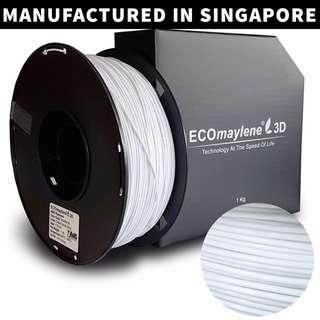 ECOmaylene 3D - ABS 3D Printer Filament | Cotton Candy White - 1KG
