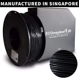 ECOmaylene 3D - ABS 3D Printer Filament | Coffee Black - 1KG