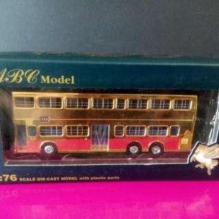 限量版 九巴雙層巴士模型 KMB 龍年 千禧年紀念版 ABC Model 1:76 Scale 金黄色