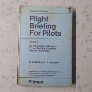 Rare Old Book Collection: Flight Briefing For Pilots (Issue year: 1971, Hardcover)