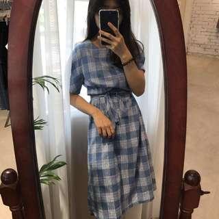 格紋洋裝 #換季五折