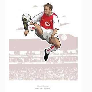 Dennis Bergkamp Arsenal Poster A3