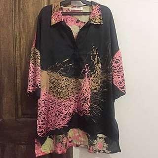 Kimono Inspired High Low Tunic
