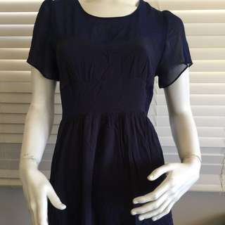 Piper Lane Navy Short Sleeve Cute Dress Size 10