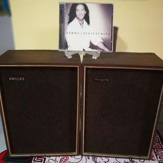 Philips Vintage Full Range Speaker .(1 Pair)
