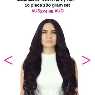 22 Inch Black Remy Hair Extensions