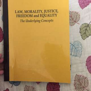Law, morality, justice, freedom and equity (The underlying concepts)