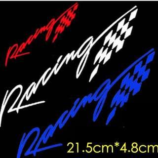 Racing 速度 汽車 摩托車 機車 電動車 貼紙 個性反光貼紙 排氣管耐熱車貼 車貼 1入