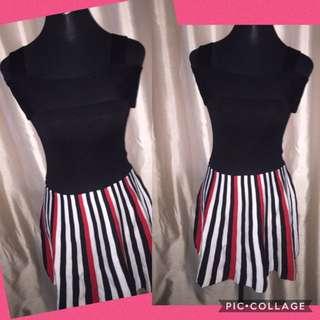 Black with stripes dress
