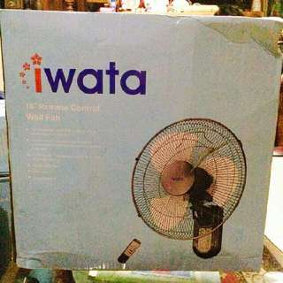 (Brand New) IWATA Remote Control  WALL Fan With Timer
