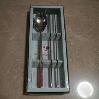 Korean Chopstick And Spoon