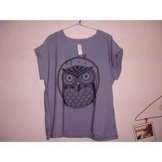 Purple Blouse Owl