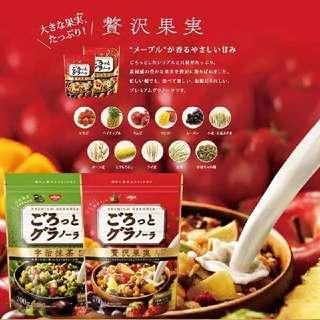 日本 日清NISSIN早餐麥片200g (水果/大豆/宇治抹茶/草莓麥片四款)