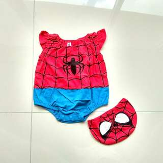 CUTE BABY GIRL SPIDERMAN COSTUME ROMPER SPIDERGIRL HALLOWEEN PARTY