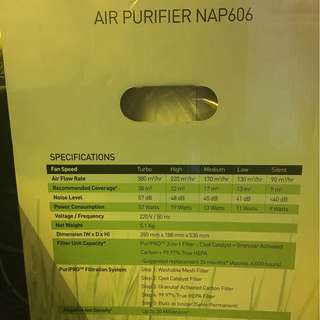 Novita NAP606 Air purifier
