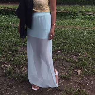 H&M maxi skirt with both side slit