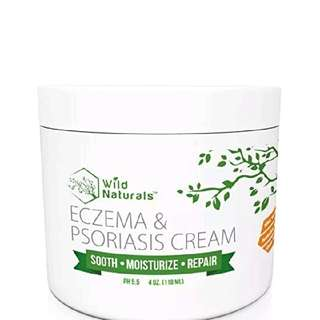 Wild Naturals Eczema Psoriasis New Cream Relief Skin Dry Irritated Itch Soothing