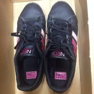 ⭐不換物 24.5cm黑色adidas neo運動鞋