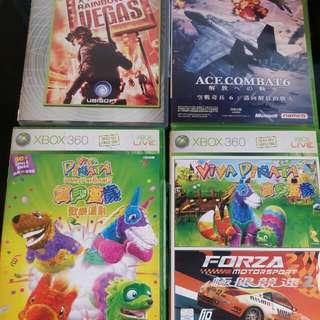Xbox 360 ace of combat 寶貝萬歲 極限競速 rainbox vegas 4隻 game