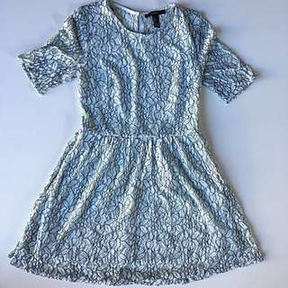 Forever 21 light blue lace mini dress in size S