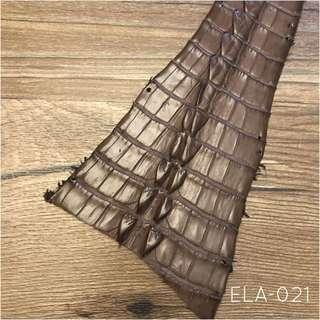 ELA-021 Alligator Tail leather Hide For Small leather Craft Jamjarleather