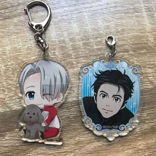 Yuri On Ice Acrylic Charms