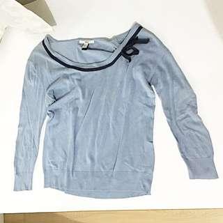 MANGO blue sweater