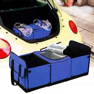Trunk Genie Folding Handy Car Bag Organizer (Blue)