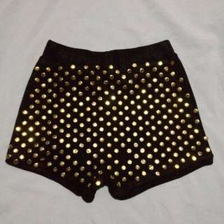 Gold Studded Shorts