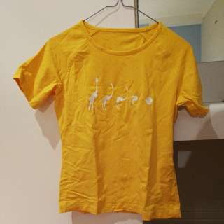 yellow shirt size 8-10