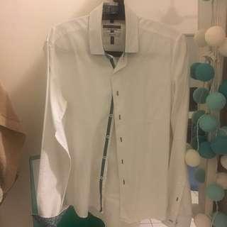 Giani Valentino white collard shirt