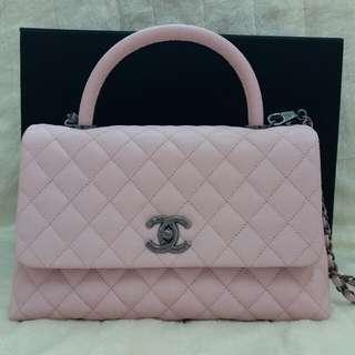 Chanel coco handle medium size 粉紅色 牛皮