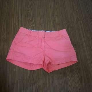 正品J.CREW桃紅色短褲-0碼