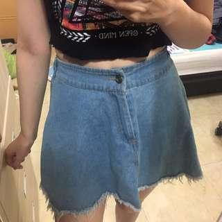淺藍牛仔短裙