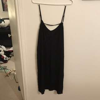 Black mid maxi dress