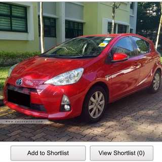 Prius C for Rent Uber Grab