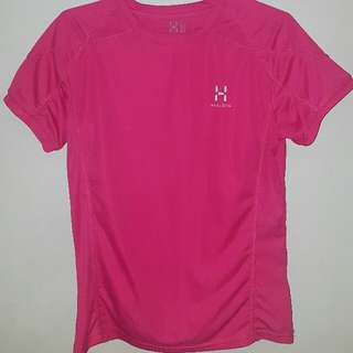 Pink Haglofs Dri Fit Shirt Medium