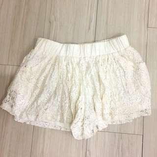 氣質蕾絲內搭口袋褲裙#女裝九九出清