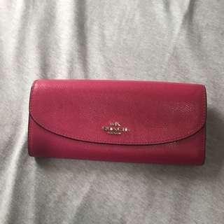 coach wallet pink color