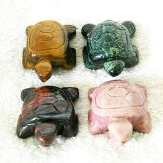 (=>21% Off) 1.5-in Hand Carved Natural Semiprecious Stone Sea Turtles At Factory Prices 1.5寸手工雕刻的天然半宝石海龟-以厂商价大促销