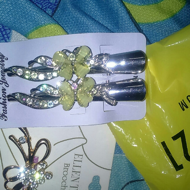 2pc Butterfly Hairclip
