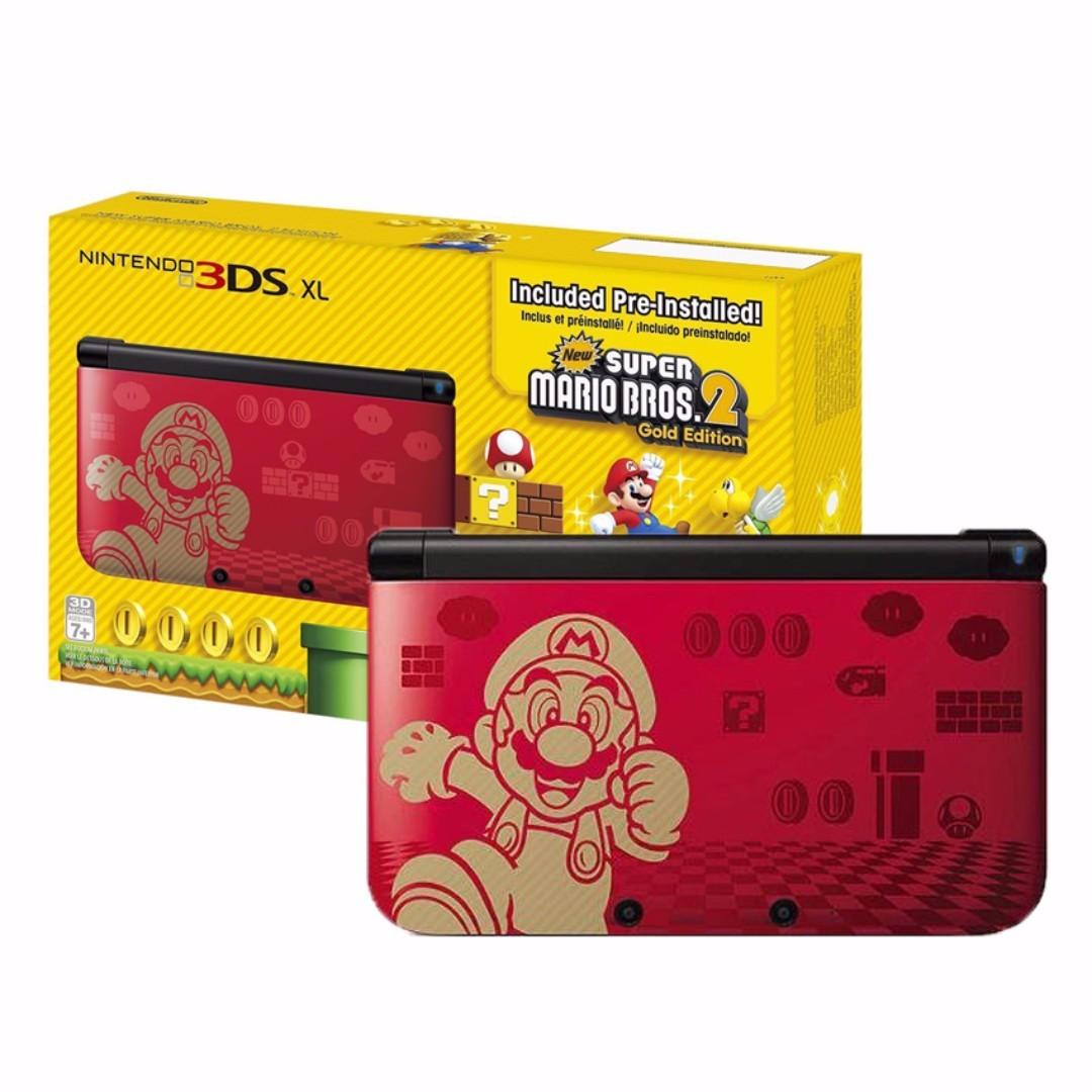 3DS XL Console (Super Mario Bros. 2: Gold Edition)