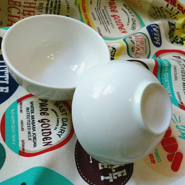 素面瓷碗一對